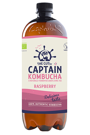 The Gutsy Captain Kombucha Raspberry BIO
